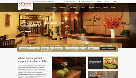 Thiết kế website toà nhà Htower Hải Phòng