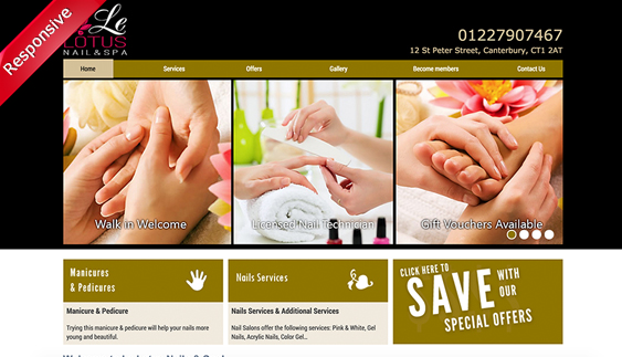 THIẾT KẾ WEBSITE Le Lotus Nails & Spa Canterbury