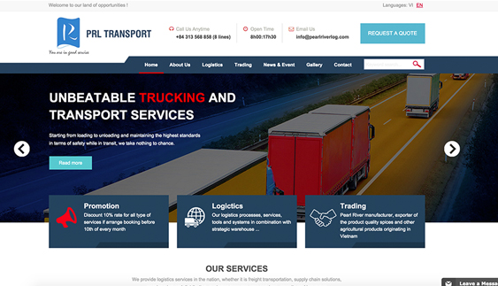 Thiết kế website công ty Logistics Song ngọc