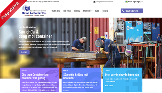 Thiết kế website Hải An Container