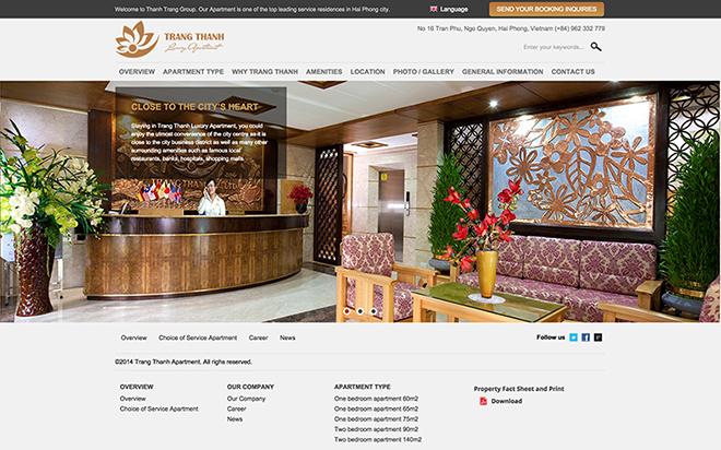 thiết kế website căn hộ cao cấp